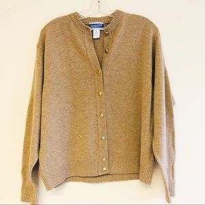 Pendleton 100% virgin wool cardigan sweater. L